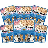 INABA Twin Packs Tuna & Chicken in Scallop Broth 6packs, 80 Grams