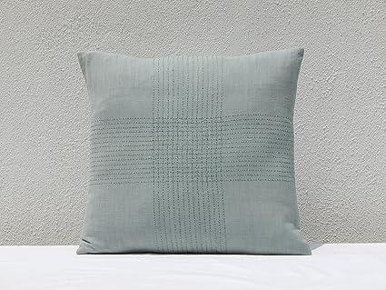 Buy Gitika Goyal Home Khadi Chikanwork Cushion Cover Broken Line