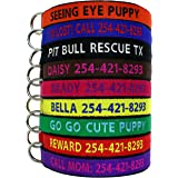 Go Go Cute Puppy Personalized Dog Collars - Custom Embroidered Collar With Pet Name & Phone Number - 4 Adjustable sizes - 9 Bright Colors For Boy and Girl Dogs