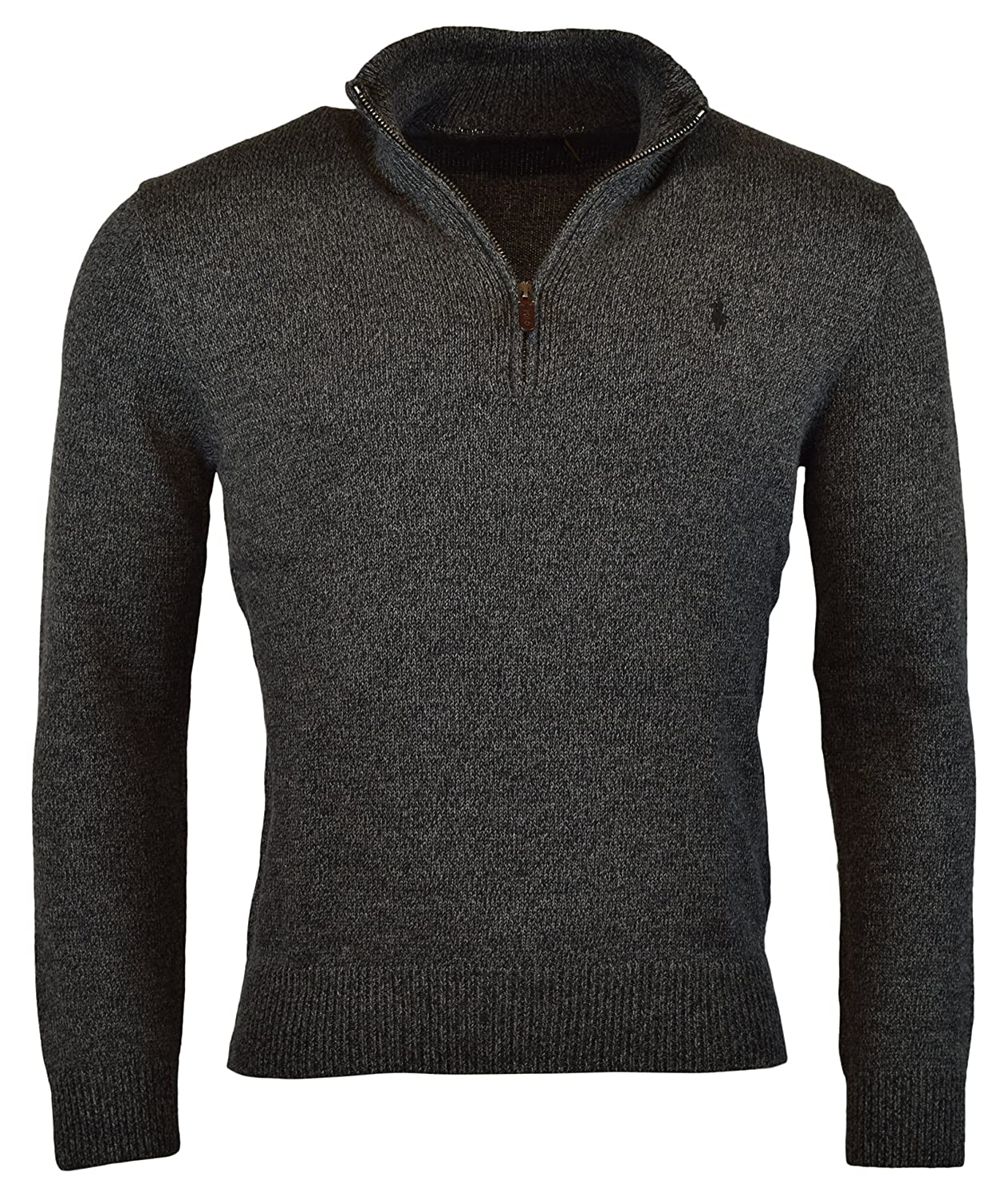 Polo Ralph Lauren Men's Half-Zip Mockneck Sweater, XXL, Charcoal