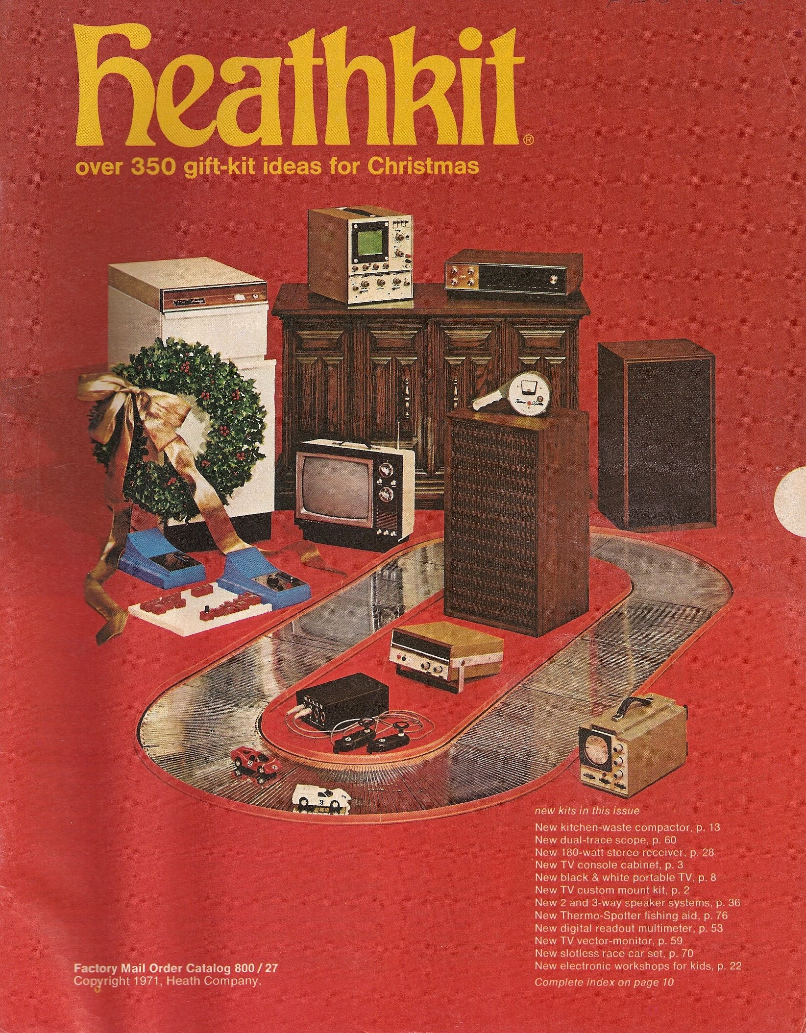 Heathkit Factory Mail Order Catalog 800 / 27, 1971 (Over 350 Gift-Kit Ideas for Christmas) Paperback – 1971