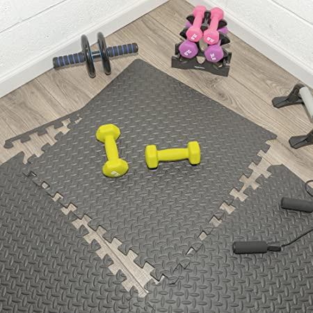 Multipurpose Anti Fatigue Exercise Puzzle Mat Tiles by Ottomanson