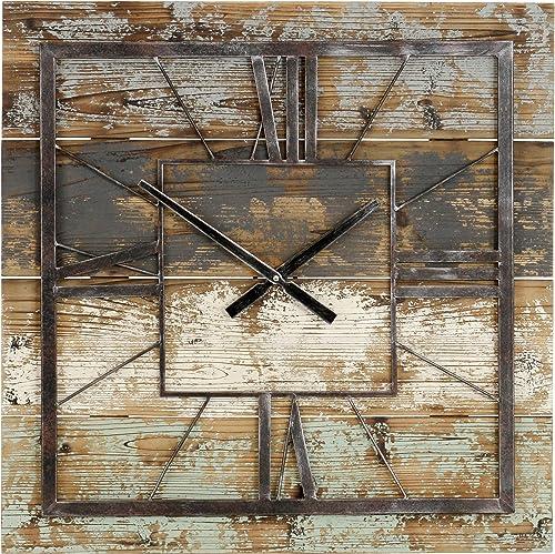 Aspire Weston Square Large Clock 27.5 Inch Farmhouse Wall D cor