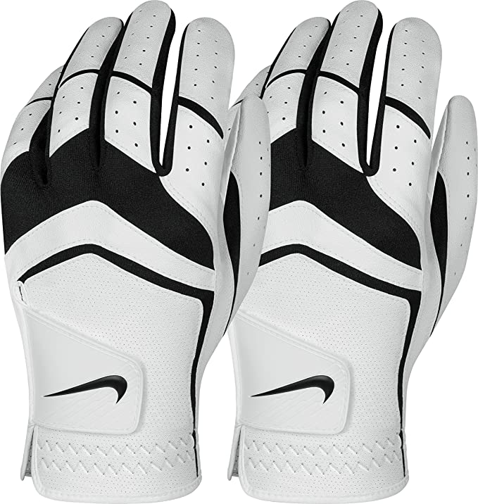 Nike Men's Dura Feel Golf Glove (2-Pack) (White), X-Large, Left Hand best golf glove