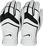 Nike Men's Dura Feel Golf Glove (2-Pack) (White), Medium-Large, Left Hand
