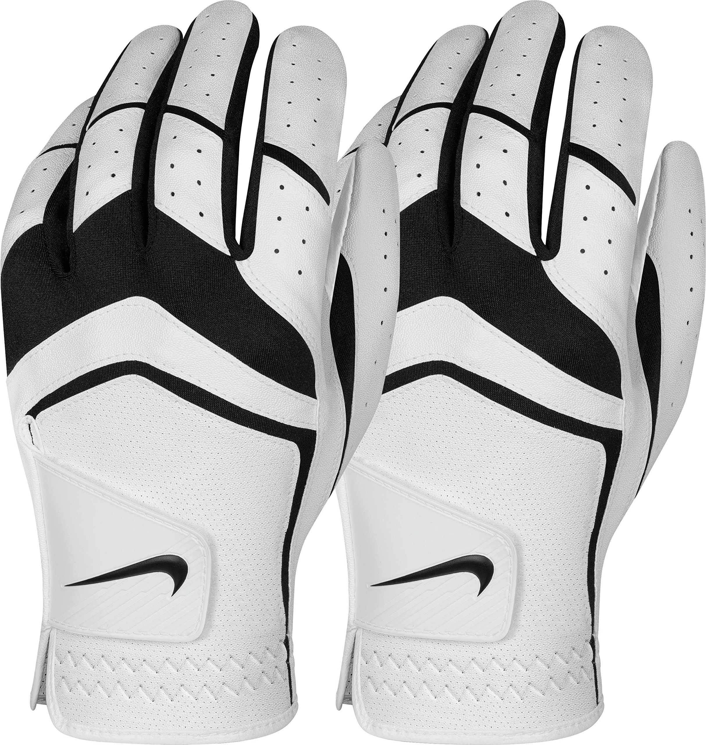 Nike Men's Dura Feel Golf Glove (2-Pack) (White), Large, Left Hand by Nike