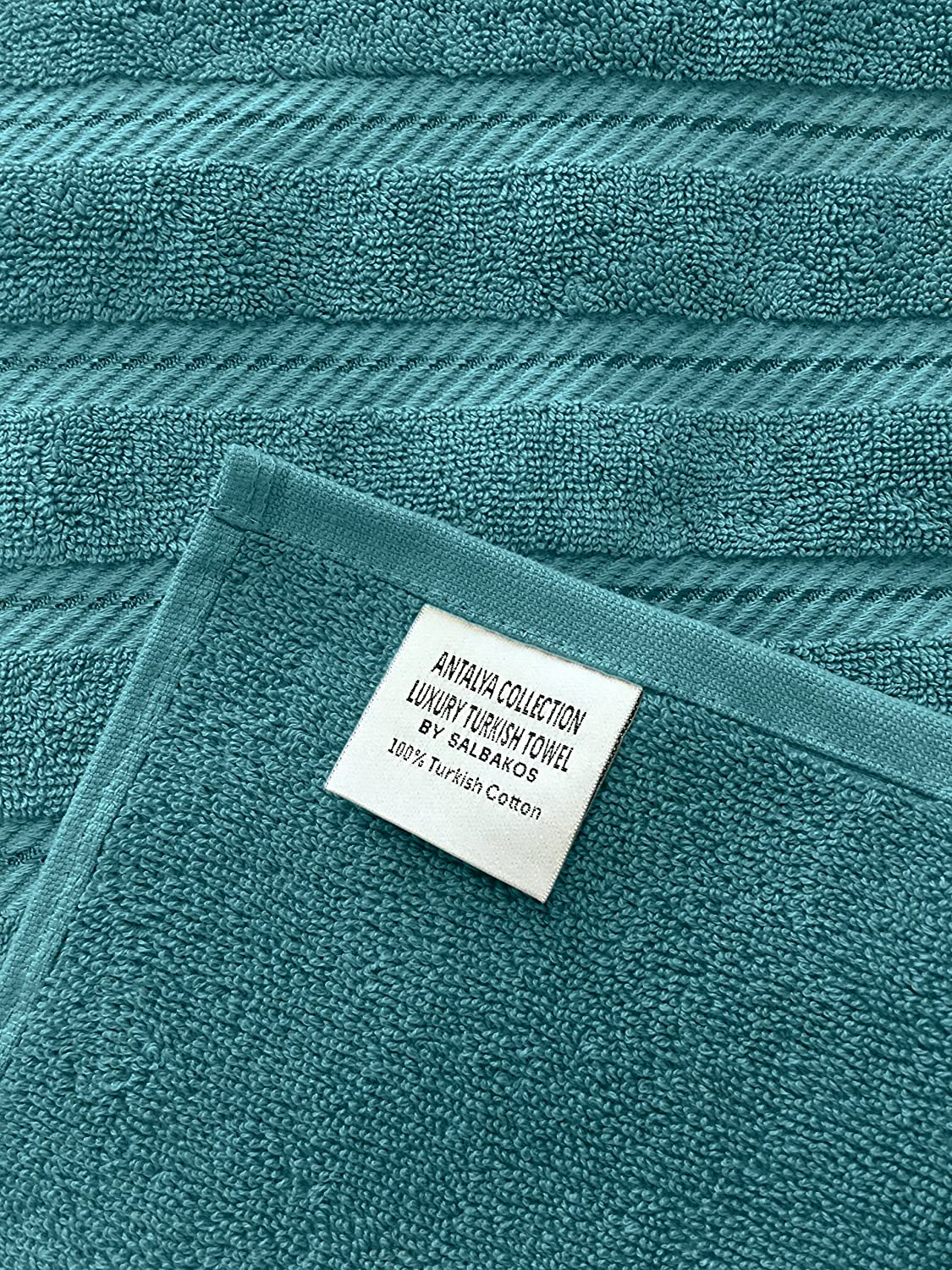 Antalya Bath Towel Set Of 4 Made In Turkey 2 Ply Yarn Blue Wool Conversion Tables Home Kitchen