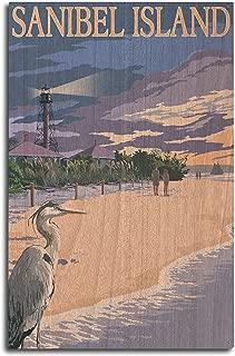 product image for Lantern Press Sanibel Island, Florida - Lighthouse (10x15 Wood Wall Sign, Wall Decor Ready to Hang)