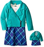 Amazon Price History for:Dollie & Me Girls' Texture Moto Jacket with Knit to Plaid Dress