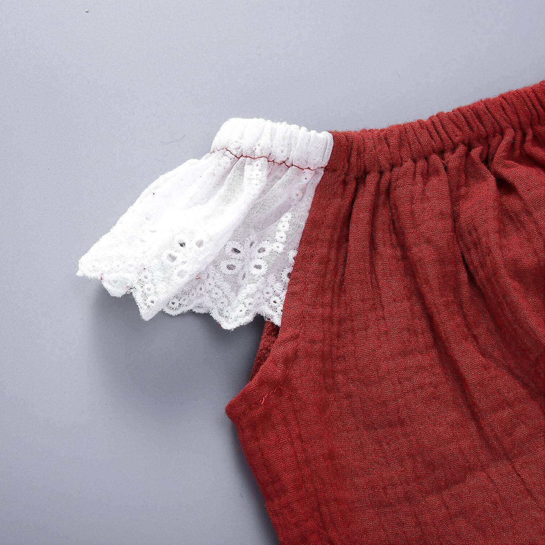 Babywow Baby Girls Angel Style Romper Infant Kids Jumpsuit One Piece Bodysuit Sleeveless Playwear