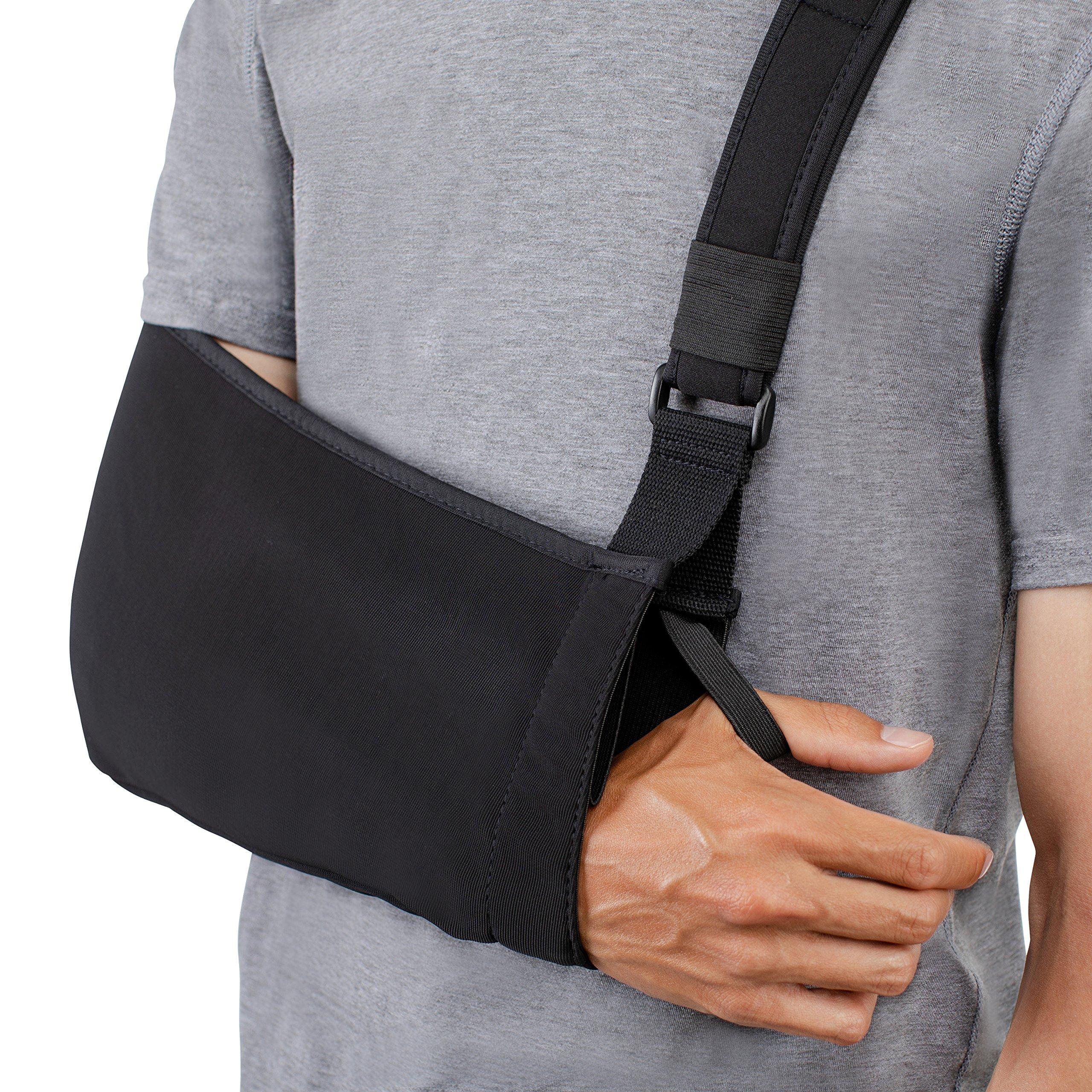 Think Ergo Arm Sling Sport - Lightweight, Breathable, Ergonomically Designed Medical Sling for Broken & Fractured Bones - Adjustable Arm, Shoulder & Rotator Cuff Support (Adult) by Think Ergo (Image #9)