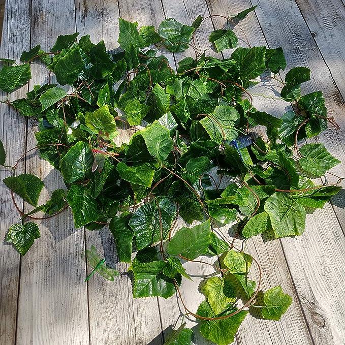 YQing 12 Pi/èces Lierre Artificielle Plantes Guirlande Vigne Exterieur Lierre Artificielle Guirlande D/écoration pour C/él/ébration Cuisine Mariage Bureau Jardin