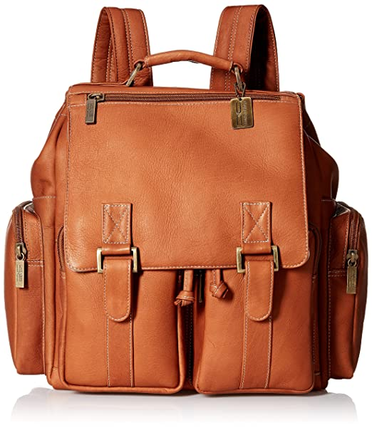 Claire Chase Laptop and Tablet Backpack-mochila para portátil Hombre-Mujer, Saddle (marrón) - 568-SADDLE: Amazon.es: Ropa y accesorios