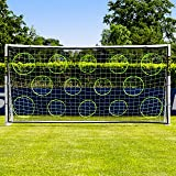 Net World Sports FORZA Football Goal With Pro Football Target Sheet For Perfect Shooting Practice - Select Your Size