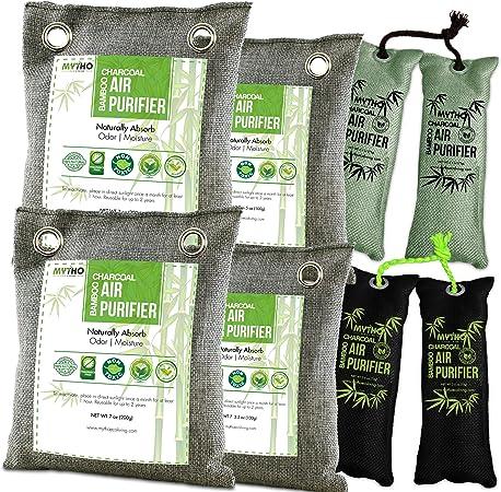 Paquete de 8 bolsas purificadoras de aire de carbón de bambú ...