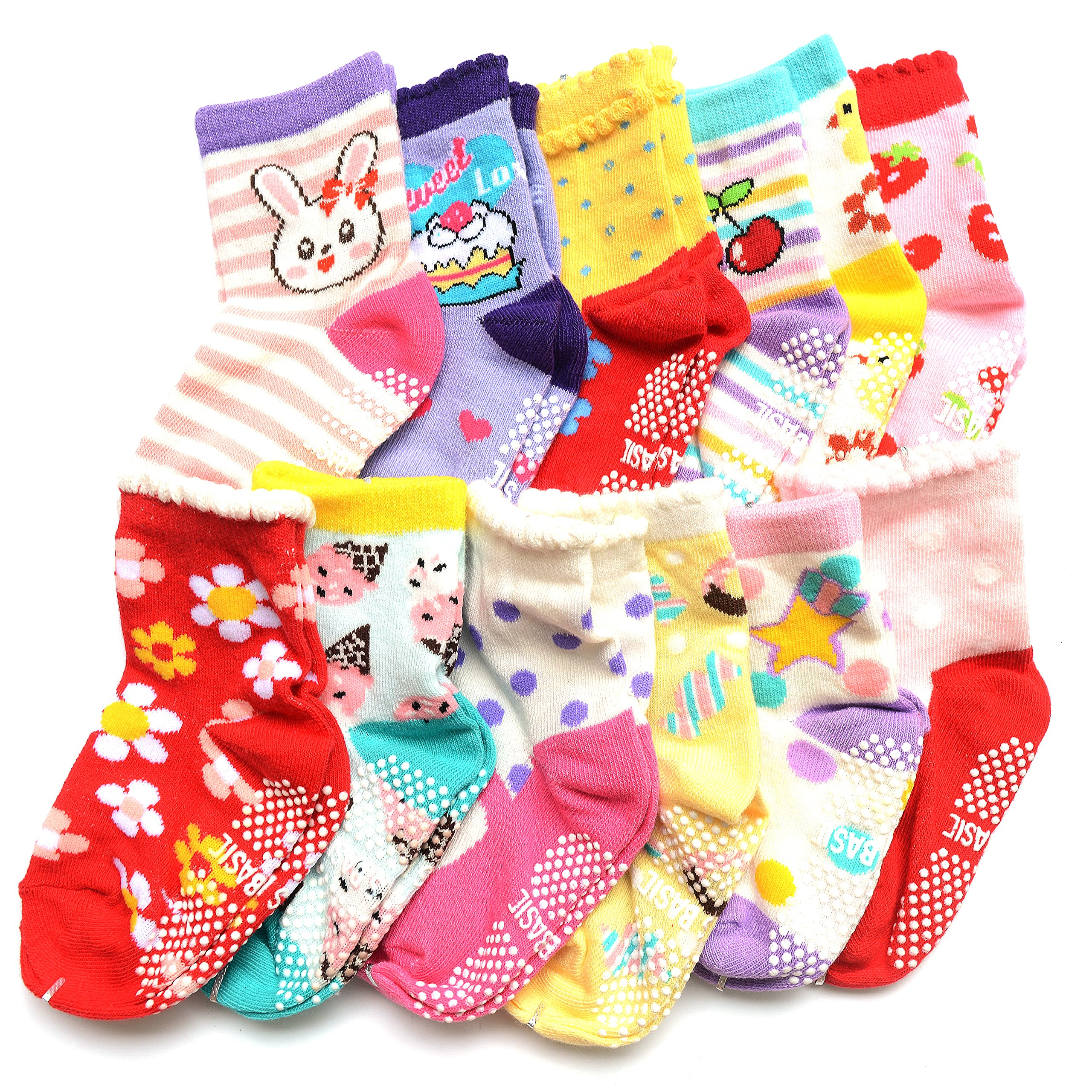 Amazon Com Shoppewatch 12 Pairs Baby Toddler Socks With