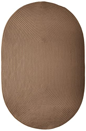 Boca Raton Polypropylene Braided Rug, 4-Feet by 6-Feet, Cashew