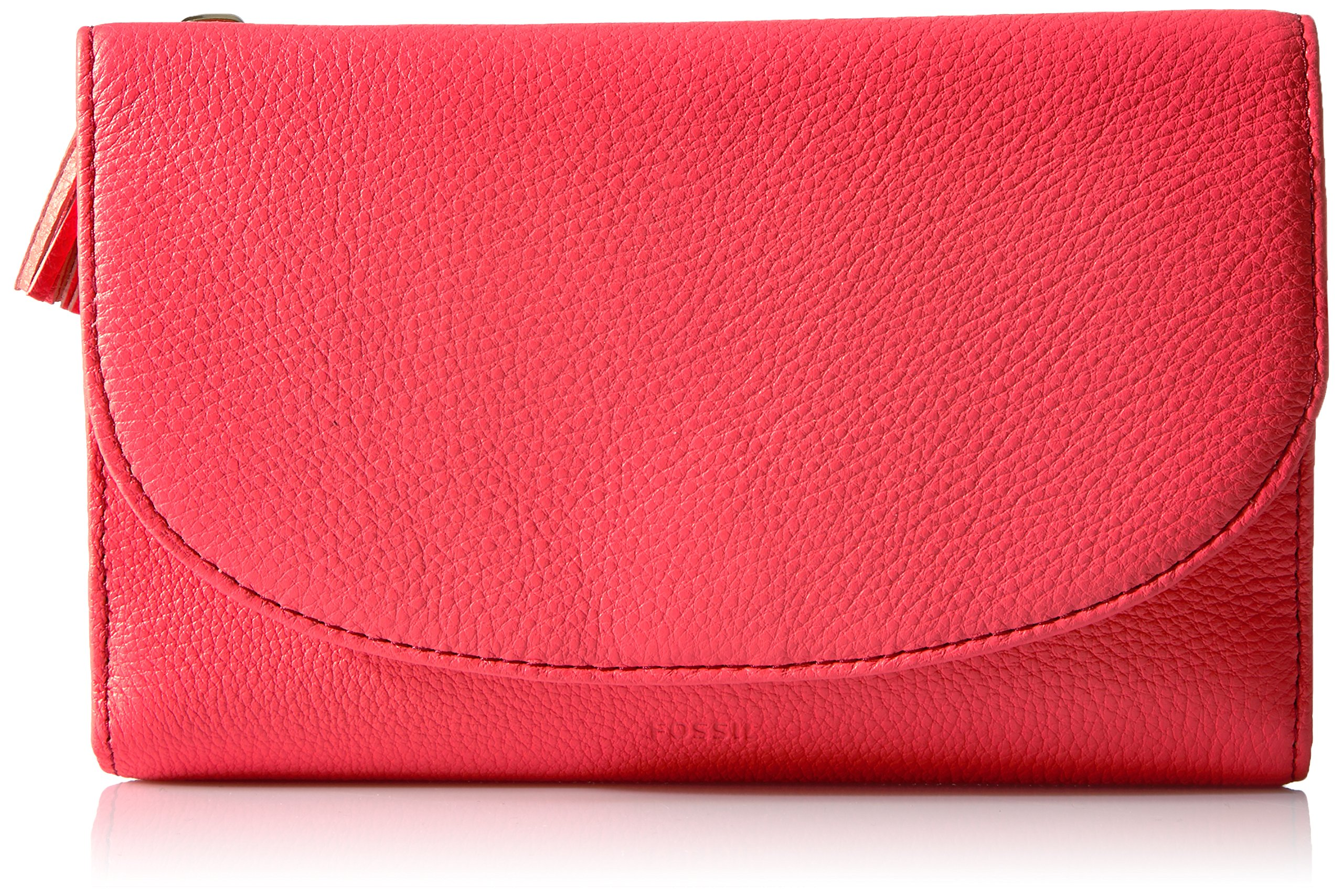 Fossil Sophia Wallet on a String, Neon Coral