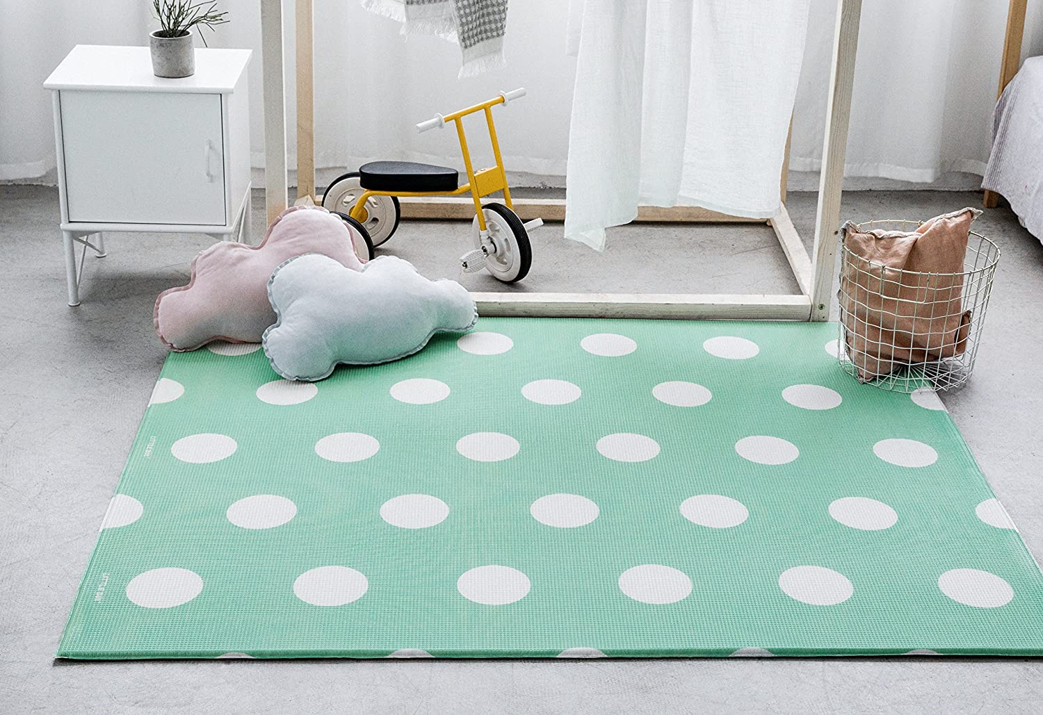 Race Track and Green Polka Dots