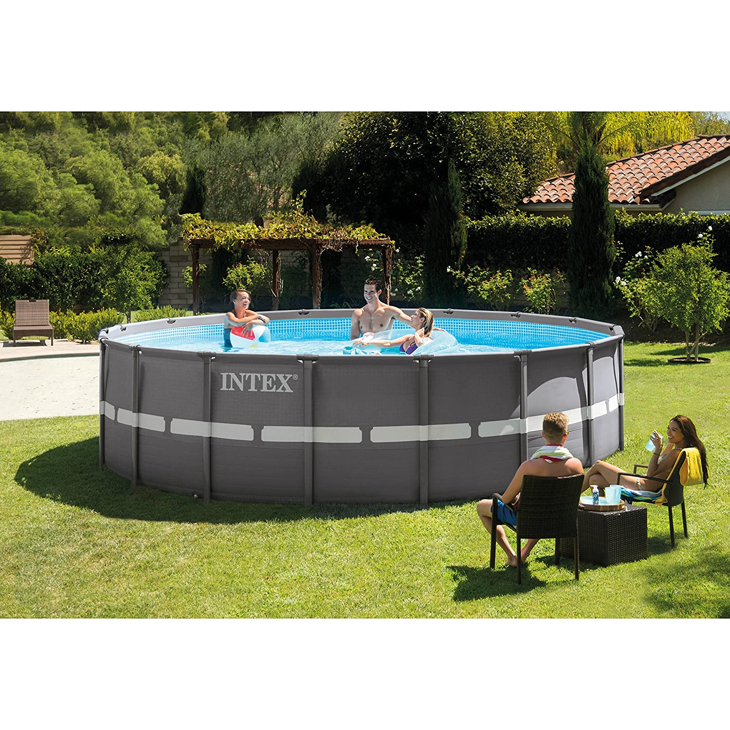 Intex 18ft X 52in Ultra Frame Pool Set Black Friday Deal 2020