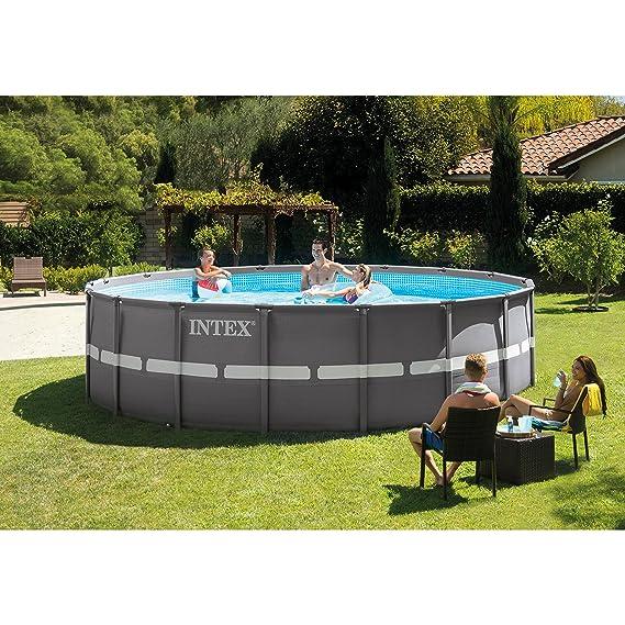 Amazon.com: Piscina rectangular, con bomba de filtro de ...