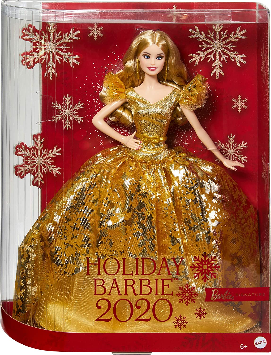 Christmas Barbie 2020 Amazon.com: Barbie Signature 2020 Holiday Barbie Doll (12 inch