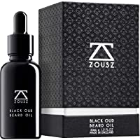 ZOUSZ Beard Oil - Black Oud Wood Scented Grooming Formula with Natural Avocado, Argan, Macadamia Oils - Non-Greasy…