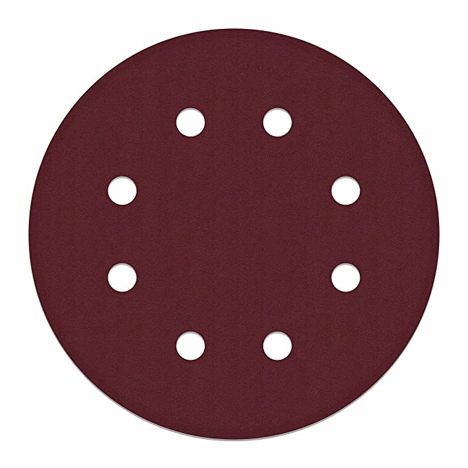 8 Hole 180 Grit Sanding Discs Sandpaper for Drywall Sander 10 Pack 7.5 Inch