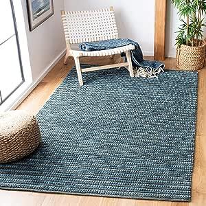 Safavieh Bohemian Collection Boh525g Handmade New Zealand Wool Jute Area Rug 8 X 10 Dark Blue Multi Furniture Decor