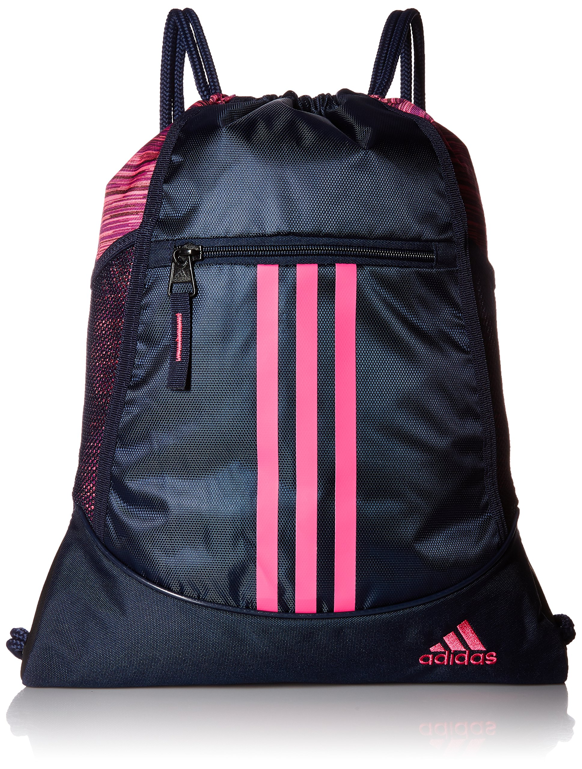 adidas Alliance II Sackpack, Collegiate Navy/Shock Pink, One Size