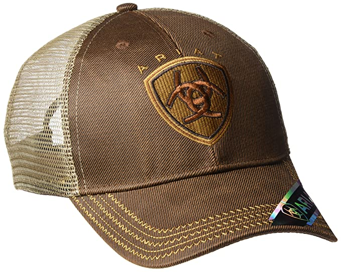 a8b700154 ARIAT Men's Oilskin Mesh Hat