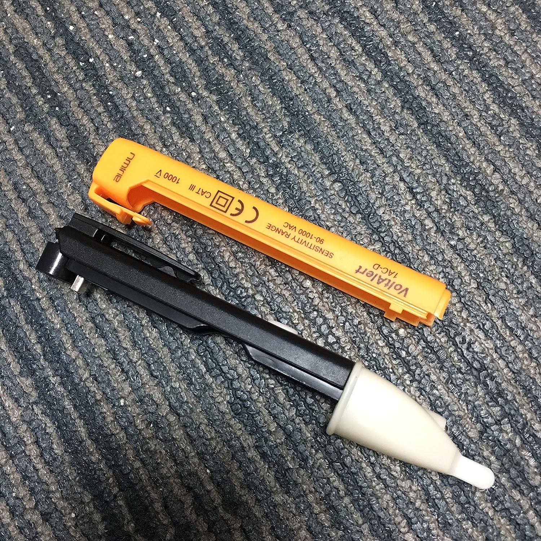 Bolígrafo voltímetro AIJIWU con detector de tensión sin contacto, de 90 V a 1000 V de CA y con pantalla LED