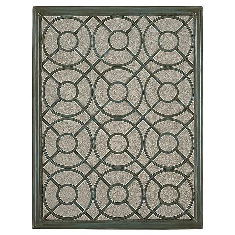 Amazon.com: Stone & Beam - Espejo de pared de hierro con ...