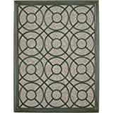 Amazon Brand – Stone & Beam Iron Latticework Decorative Hanging Mirror Wall Art, 39.4 Inch Height, Verdi Green