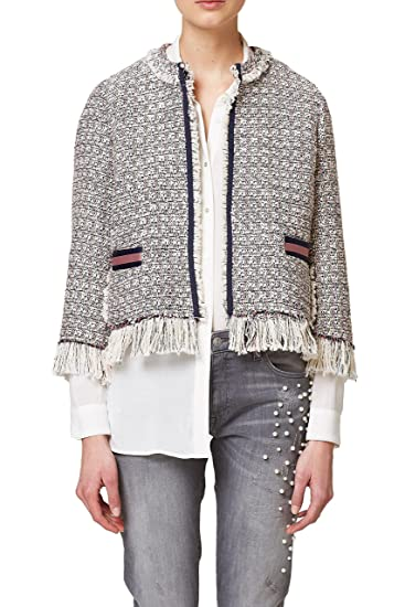 Esprit 028ee1g016, Chaqueta para Mujer, (Off White 110), Small