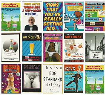 20 Risque Rude Adult Humorous Birthday Cards Envelopes Assorted Designs