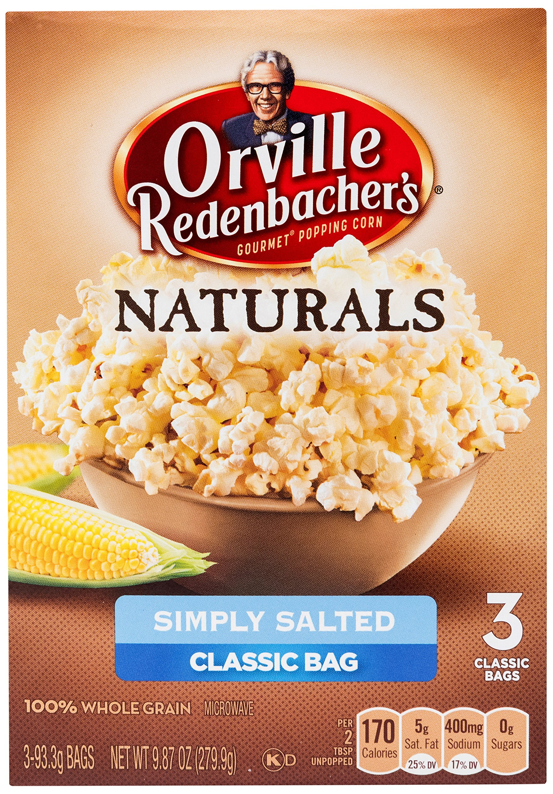 Orville Redenbacher's Naturals Simply Salted Popcorn, 3.29 Ounce Classic Bag, 3-Count by Orville Redenbacher's
