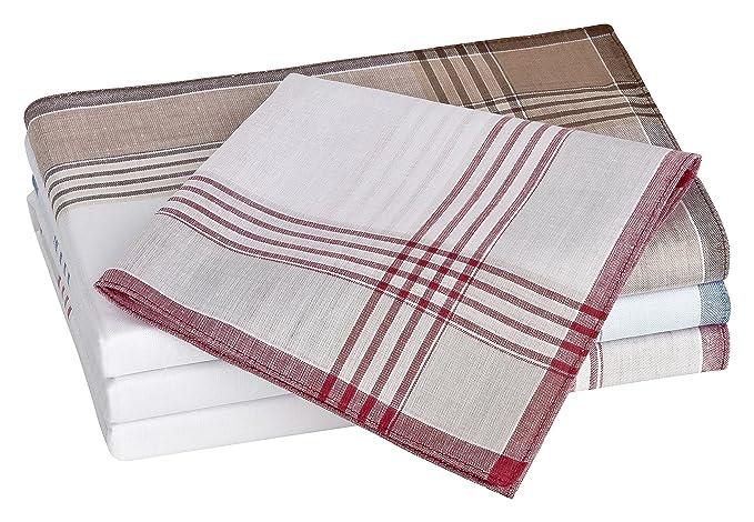 Tobeni 20 Hombres pañuelos pañales de tela 100 peinadas algodón 40 x 40 cm, Color