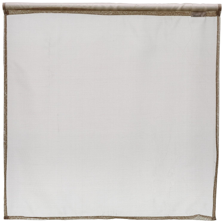 Lovely Casa RA31290001 Lisa Paire Brise Bise Polyester Blanc 60 x 60 cm