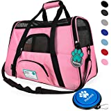 Premium Airline Approved Soft-Sided Pet Travel Carrier by PetAmi | Ventilated, Comfortable Design with Safety Features | Ideal for Small to Medium Sized Cats, Dogs, and Pets