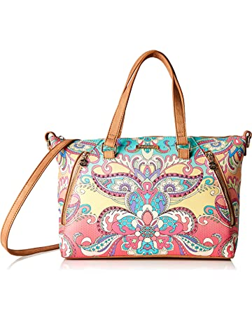 51603d12f7e98 Desigual Bag Grand Valkiria Piadena Women, Sacs menotte femme, Orange  (Coral),