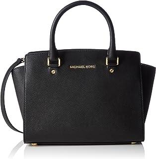 michael michael kors women s large savannah satchel black one size rh amazon com