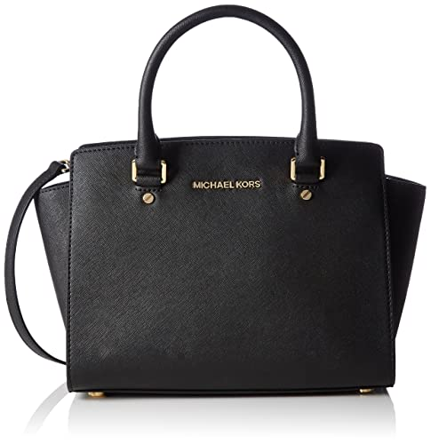 low priced 3c733 d83c6 MICHAEL Michael Kors Selma Satchel, Black, Medium  Handbags  Amazon.com