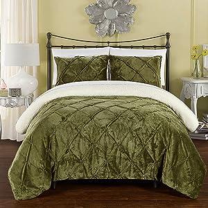 Chic Home Josepha Bedding Set, Twin-XL Comforter, Green