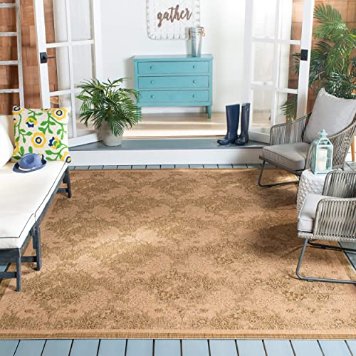 Safavieh Courtyard Collection CY6582-49 Gold and Natural Indoor Outdoor Area Rug 9 x 12