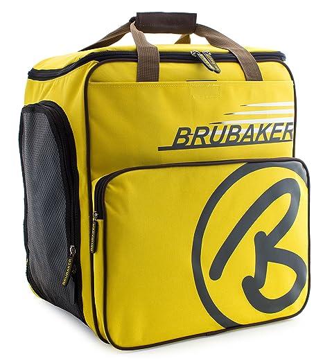 BRUBAKER Super Champion borsa per scarponi da sci con scomparto casco  colore giallo   sabbia d6c0c3b3505
