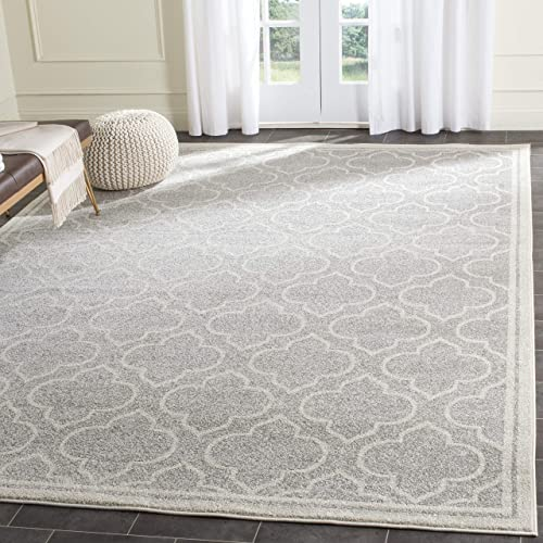 Safavieh Amherst Collection AMT412B Moroccan Geometric Area Rug, 3 x 5 , Light Grey Ivory