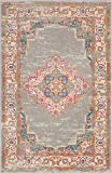 "Nourison Passion Grey Contemporary Rug, 5'3"" x"