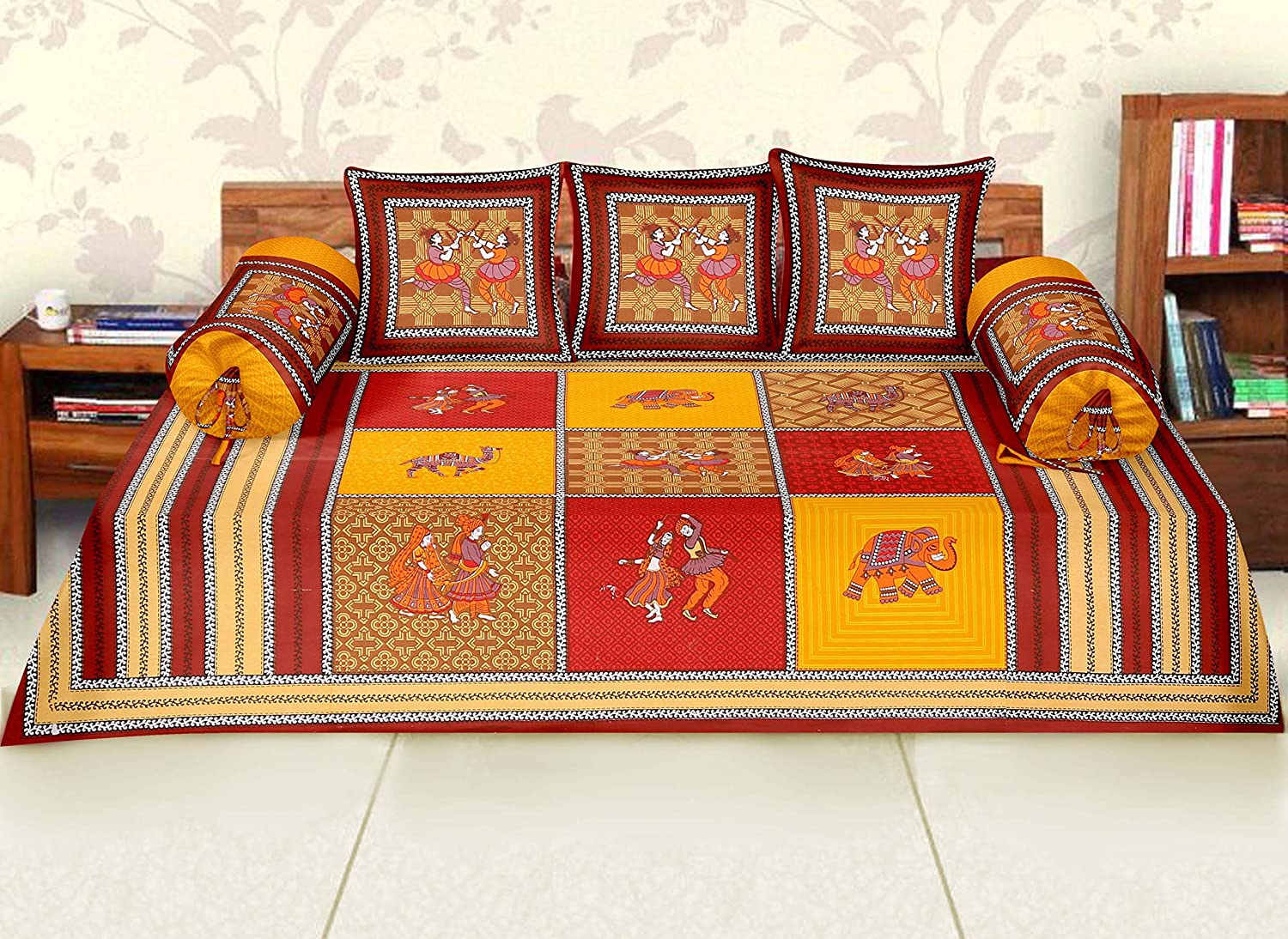 Cotton Diwan Set with Rajasthani Design