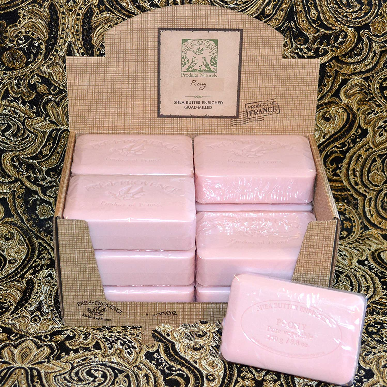 Amazon.com : Case of 12 Pre de Provence Peony 250 gram shea butter ...